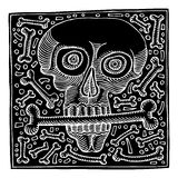 Death original woodcut stock illustration