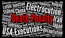 Death penalty word cloud Royalty Free Stock Photography