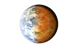 Death of the planet Earth. stock photos
