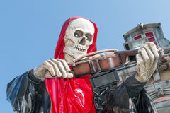 Death Playing the Fiddle Royalty Free Stock Image