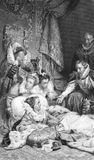 Death of Queen Elizabeth I (Dying Concept) Stock Images