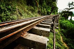 Death railway Stock Photos