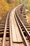 Death railway. Royalty Free Stock Photography