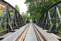 Death railway bridge across Kwai river Stock Images