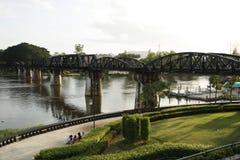 The Death Railway Bridge over Kwai river Stock Photos