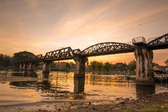 The death railway bridge over Kwai river Royalty Free Stock Photo