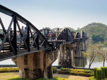 The death railway bridge of River Kwai Stock Photography