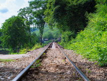 Death railway. Built during World War II, Thailand royalty free stock images