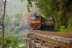 The Death Railway crossing the River Kwai, built when World War II royalty free stock images