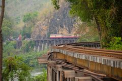 The Death Railway crossing the River Kwai, built when World War II royalty free stock photo