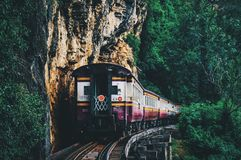 Death Railway in Kanchanaburi Thailand royalty free stock photos