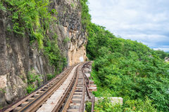 Death railway train wooden history of world war II. In river kwai at kanchanaburi,thailand Royalty Free Stock Photography