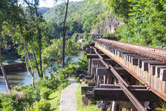 Death railway,  World War II,Kanchanaburi Stock Photo