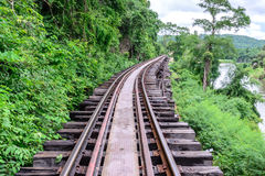 Death Railway, during the World War II at Kanchanaburi Thailand Stock Images