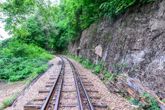 Death Railway, during the World War II at Kanchanaburi Thailand Royalty Free Stock Photos