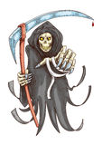 Death reaper with scythe. Halloween symbol Royalty Free Stock Images