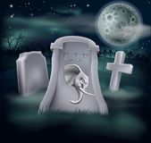 Death of Republican Party Concept. Of tombstone with Republican symbol of Elephant on a grave marker (Democrat version also available stock illustration