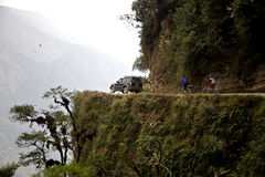 The Death Road. In Bolivia is the most dangerous road on the planet Stock Image