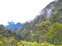 Death Road from Coroico to La Paz, Bolivia royalty free stock photography