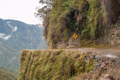 Death Road. To Coroico in Bolivian Yungas Stock Images