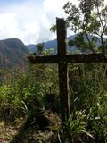 The Death Road in Yungas, Bolivia, South America. Royalty Free Stock Images