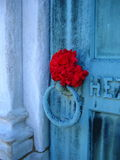 Death's door. Cemetery crypt door at Lakeview Cemetery, Ohio stock images