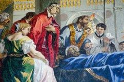 Death of Saint Mark mosaic Stock Photography