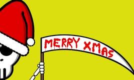 Death santa. An illustration of a christmas card Stock Illustration