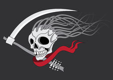 Death with scythe. Tattoo illustration isolated stock illustration