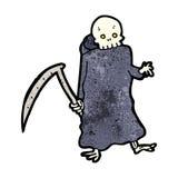 Death with scythe cartoon Stock Images