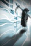 Death with a scythe wanders the hospital corridor Royalty Free Stock Photography