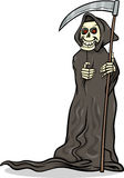 Death skeleton cartoon illustration Royalty Free Stock Photos