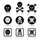 Death, skull with bones  icons set Stock Photo