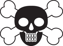 Death Skull And Cross Bones Royalty Free Stock Photo