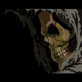 Death skull in hood. Royalty Free Stock Photos
