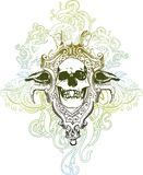 Death skull illustration Royalty Free Stock Photo