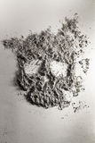 Death skull made of ash Royalty Free Stock Image