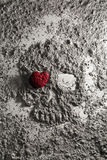 Death skull made of ash with heart on one eye Royalty Free Stock Images