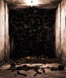 Death slimes,pile of bones in abandoned house. 3d rendering royalty free illustration