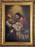 The Death of St. Joseph. Painting of The Death of Saint Joseph by Antonio Segoviano, image taken at the museum of Sacred Art in Leon Guanajuato Mexico the 31st Royalty Free Stock Images