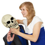 Death surrenders - people wins Stock Images