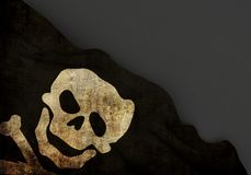 Death symbol 3d corner dirty flag Stock Photography