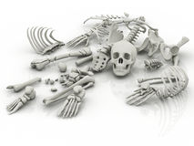 Death symbol in skeletons Stock Photography