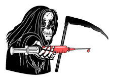Death with syringe Stock Images