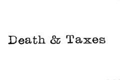 Death & Taxes Typewriter Type Royalty Free Stock Photos