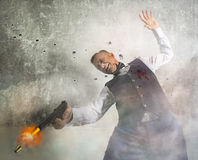 Death to the gangster in shootout Stock Photo