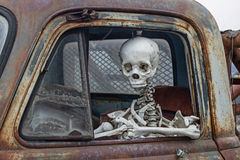 The death travels with the car Royalty Free Stock Image