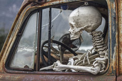 The death travels with the car Royalty Free Stock Photography