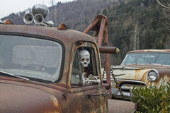 The death travels with the car Royalty Free Stock Images