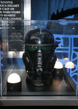 Death Trooper helmet. A Death Trooper helmet at the World premiere of `Rogue One: A Star Wars Story` held at the Pantages Theatre in Hollywood, USA on December Stock Images